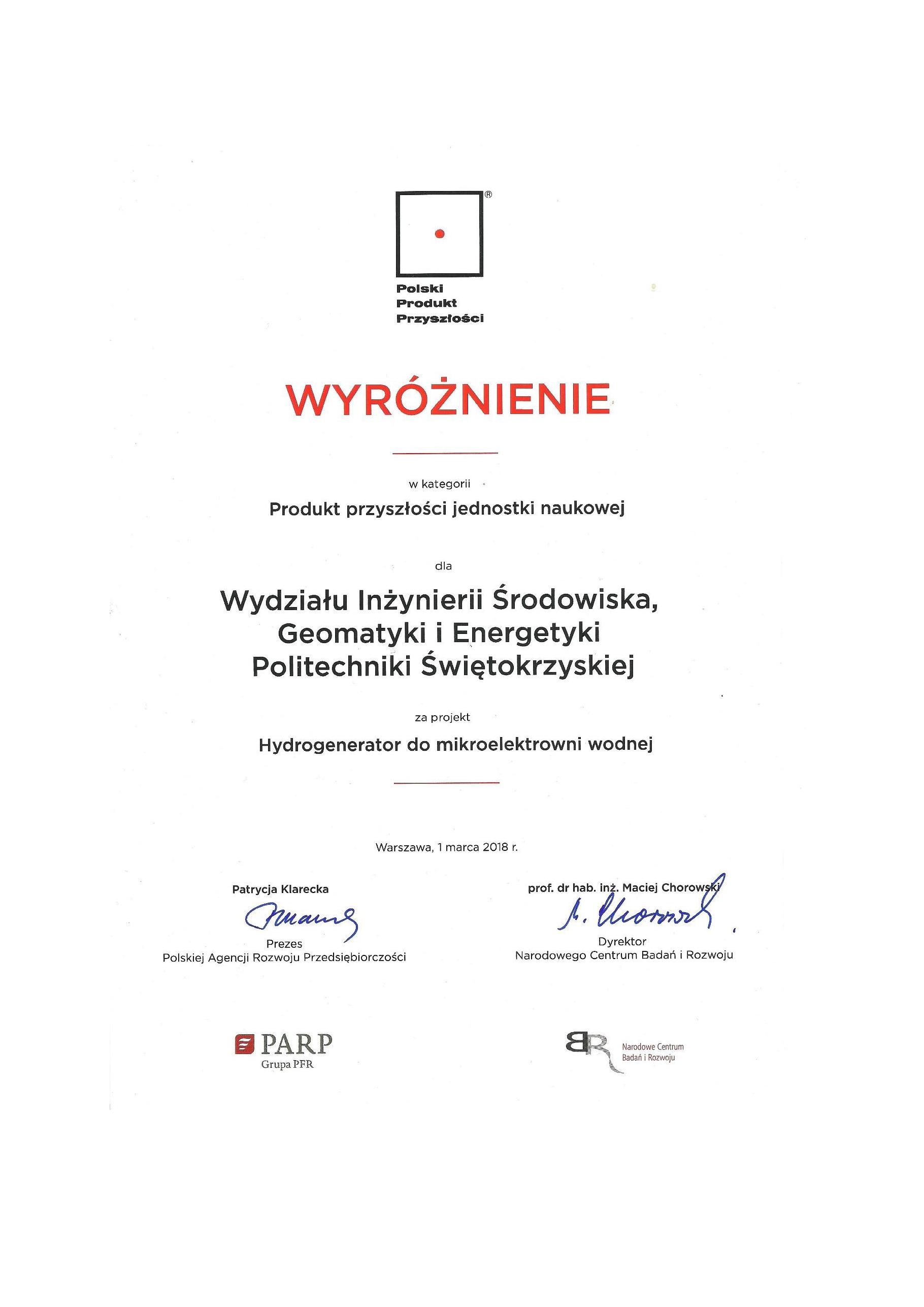 Wyróżnienie dla Pana Profesora Zbigniewa Gorycy