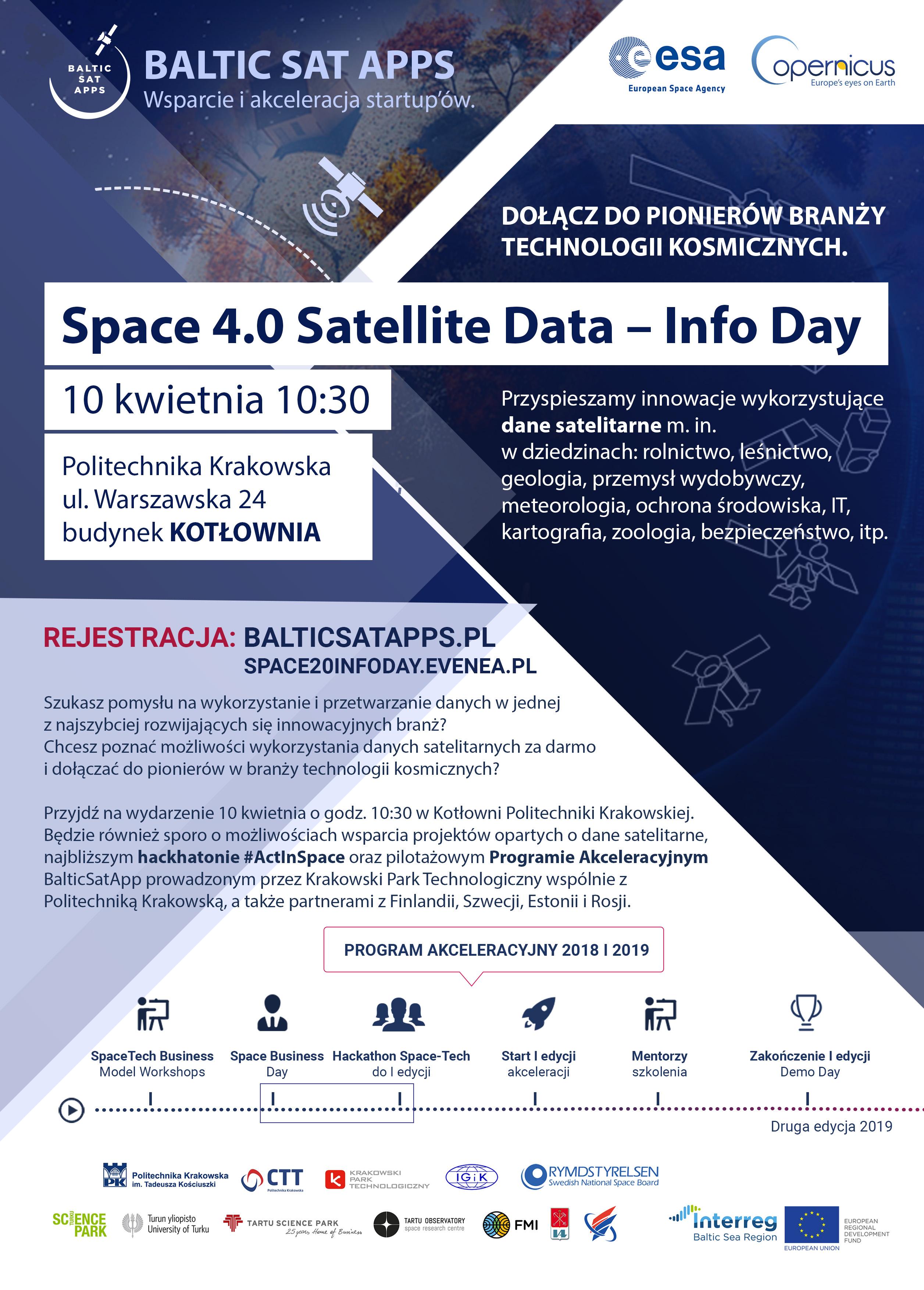 Space 4.0 Satellite Data – InfoDay. Dołącz do pionierów branży kosmicznej